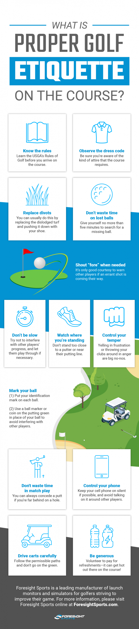 Golf Etiquette Tips (Infographic)
