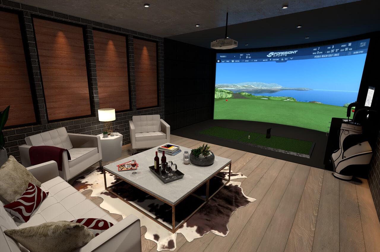 Amazing Golf Simulator Indoor Virtual Golf Simulator Foresight Interior Design Ideas Skatsoteloinfo
