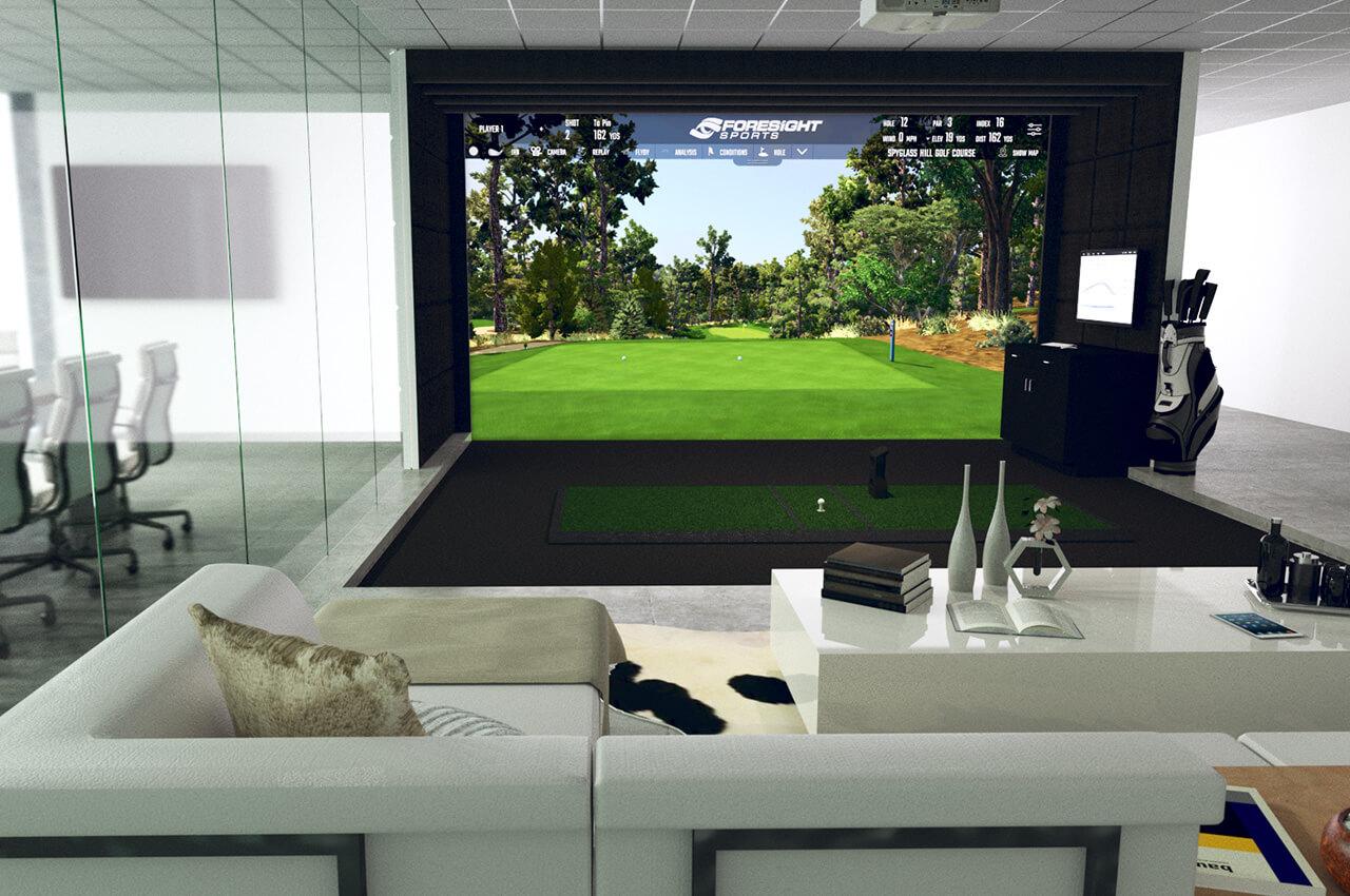 Golf Simulator Indoor Virtual Golf Simulator Foresight