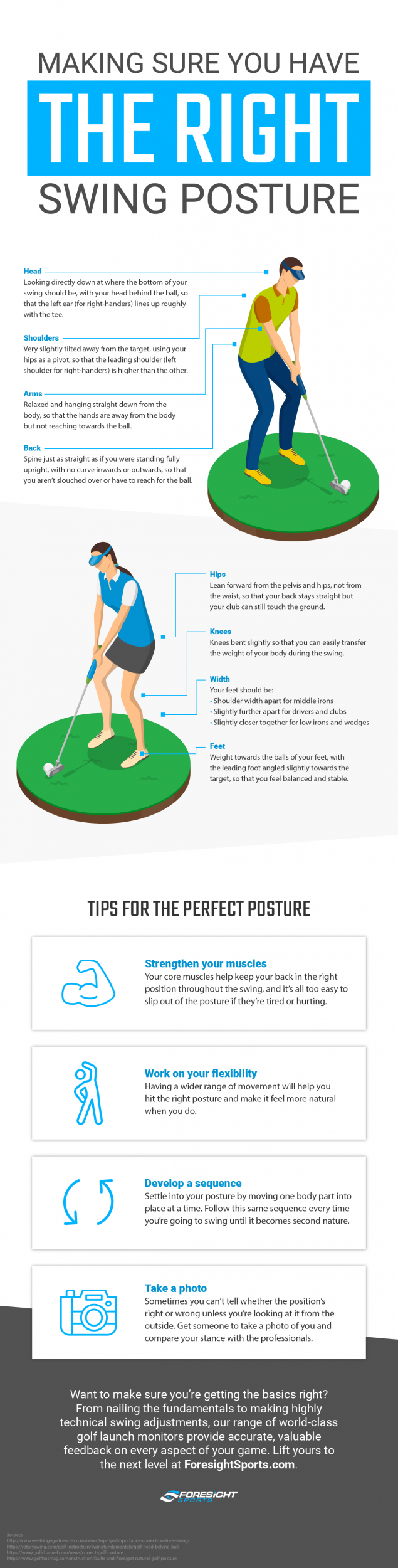Making Sure You Have the Right Swing Posture (Infographic)