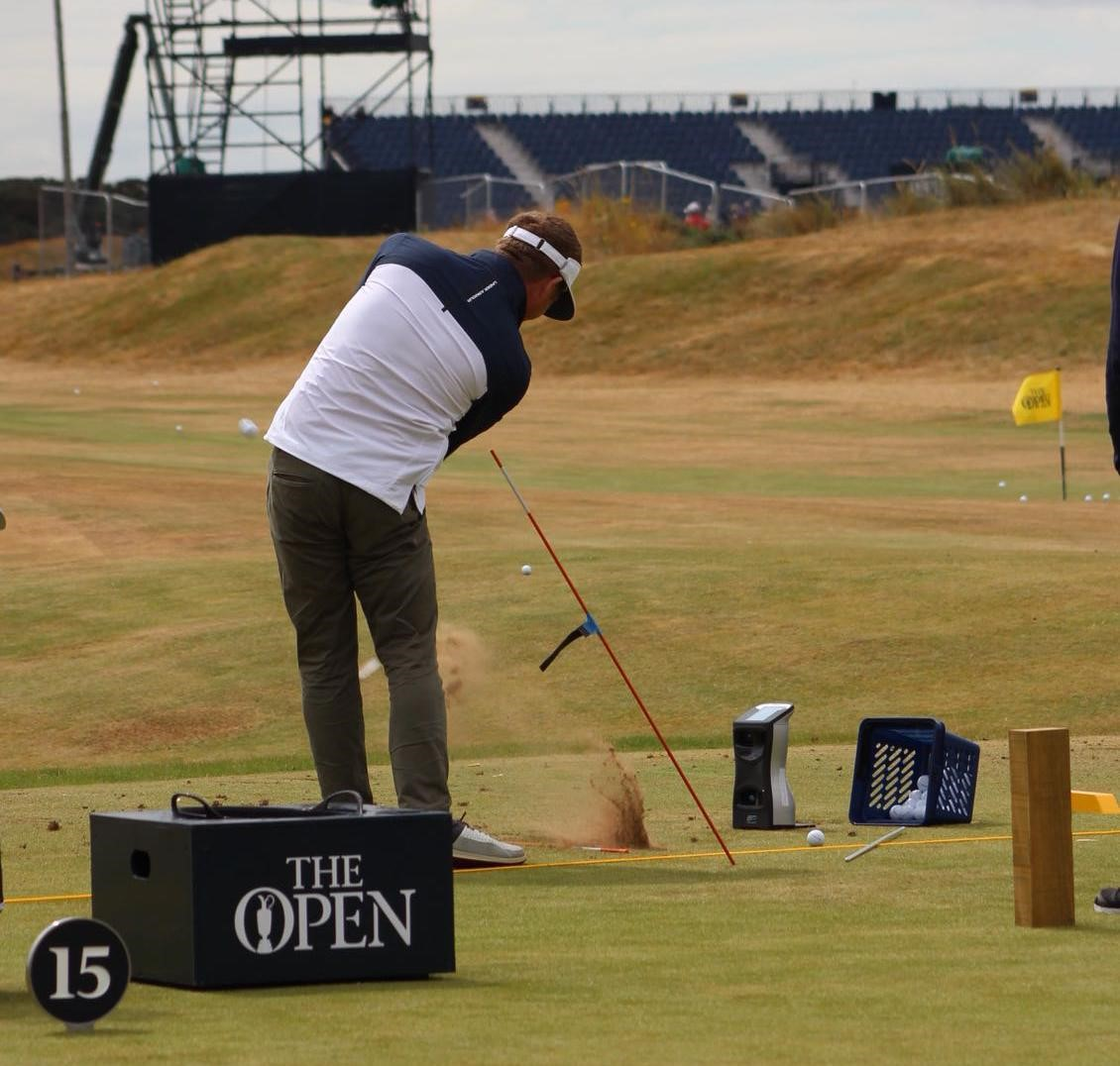 thomas curtis practicing at the open