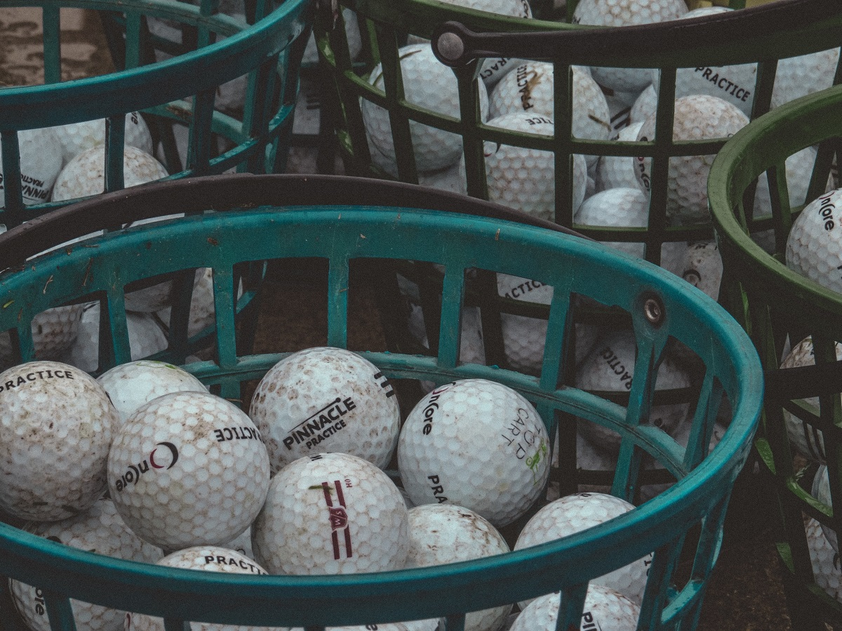 white golf ball lot