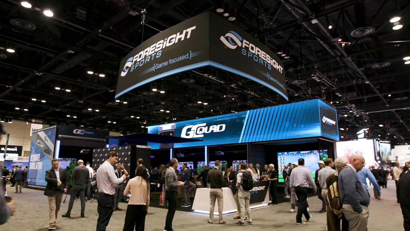 Foresight Sports booth at the 2020 PGA Merchandise Show in Orlando, Florida.