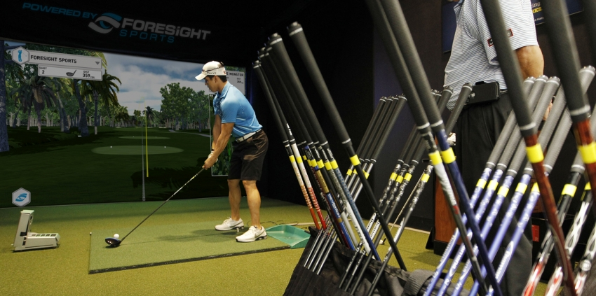 Club fitting using Forsight Sports launch monitor